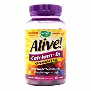 Natural Way Alive Calcium Gummies Plus Vitamin 60pcs