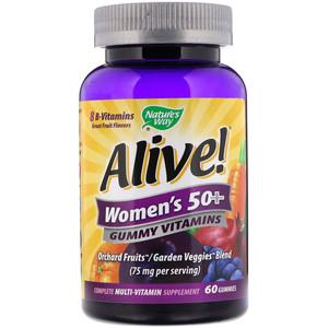 Natural Way Alive Womens 50+ Gummy Vitamin 60pcs