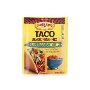 Old El Paso 25% Less Sodium Taco Seasoning Mix 28g
