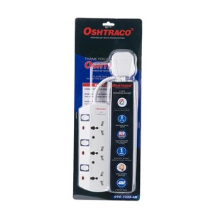 Oshtraco 3Way Switch Extension Cord With Wire 4m