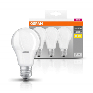 Osram LED Classic A 60 Warm White Frosted Screw 9W