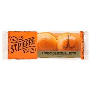 St Pierre Brioche Burger Buns 6pack