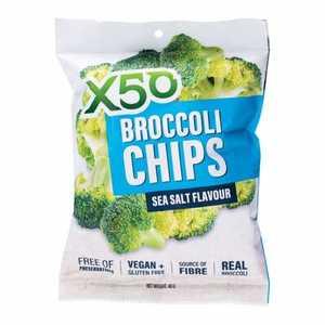 X50 Broccoli Chips Sea Salt 40g