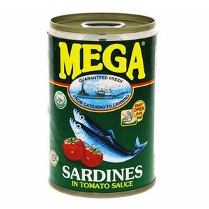 Mega Sardines Tomato Sauce Regular Green 155g