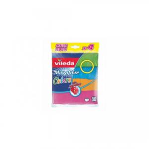 Vileda Microfiber Colors All Purpose Wiping Cloth 4s
