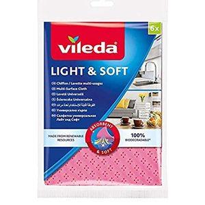 Vileda Soft & Light Cloth 6pcs