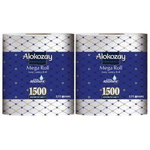 Alokozay Maxi Roll 1Ply Embossed 2x1500s
