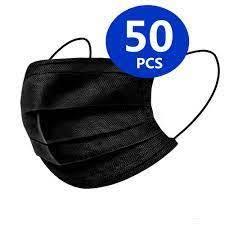 World Wide Black 3 Layer Face Mask 50pcs