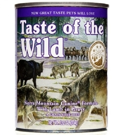 Taste Of The Wild Sierra Mountain Canine In Gravy 374g