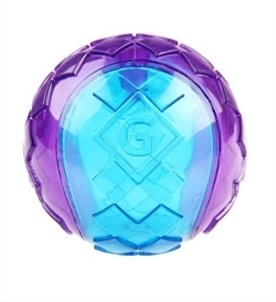 Gigwi Transparent Purple/Blue Squeaker Ball Small 1pc