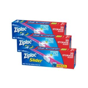 Ziploc Slider Storage Bags Quart (2+1 Free) 20pcs