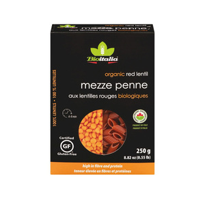 Bioitalia Lentil Mezze Penne Pasta 250g