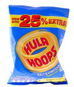 Hula Hoops Crisps Rings Salt And Vinegar 34g