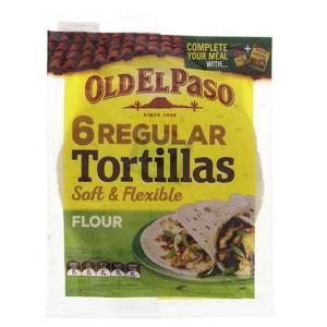 Old El Paso Tortillas Soft & Flexible 240g