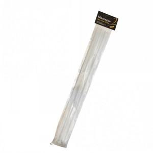 Blackspur Cable Ties White 12pcs