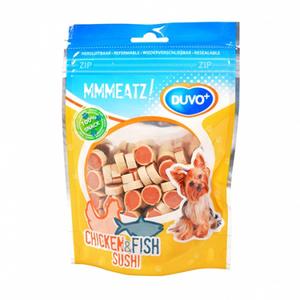 Duvo Plus Chicken & Fish Heart Shape Dog Treats 100g