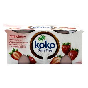 Koko Dairy Free Strawberry Yoghurt 2x125g