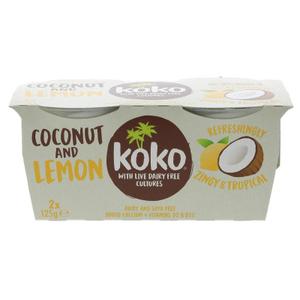 Koko Dairy Free Coconut & Lemon Yoghurt 2x125g