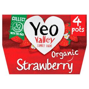 Yeo Valley Strawberry Yoghurt 4x120g