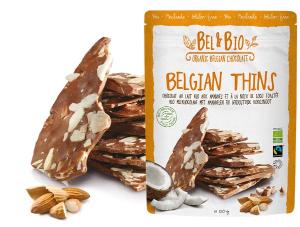 Belvas Belgian Thins Milk Coco Almond 120g