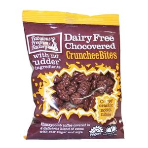 Fabulous Freefarm Factory Dairy Free Chocolate Covered Crunchee Bites 12x65g