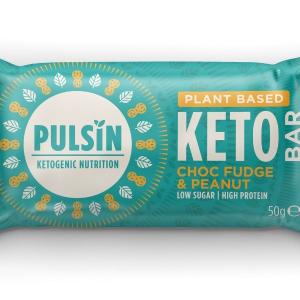 Pulsin Choc Fudge & Peanut Keto Bar 50g