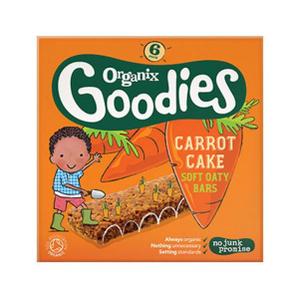 Organix Goodies Carrot Cake Cereal Bars 6x30g