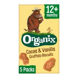 Organix Cocoa & Vanilla Gruffalo Biscuits 5packs