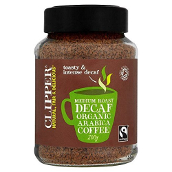 Clipper Instant Decaffenaited Coffee Medium Arabica 100g