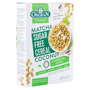 Orgran Sugar Free Matcha & Coconut Cereal 10.5oz