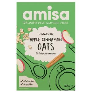 Amisa Apple & Cinnamon Spice Porridge Oats 300g