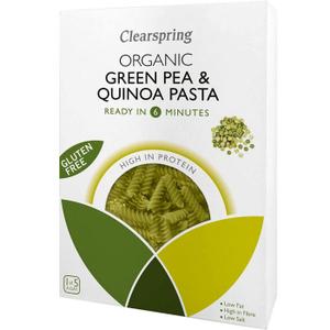 Clearspring Organic Green Pea & Quinoa Fusilli Pasta 4x250g