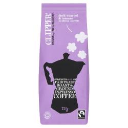 Clipper Espresso Roast & Ground Coffee 227g
