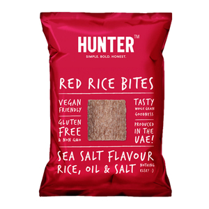 Hunter's Gourmet Gluten Free Red Rice Bites Sea Salt 110g