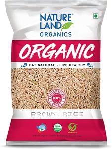 Natureland Nature Land Organic Brown Rice Premium 1kg