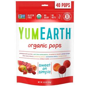 Yum Earth Organic Fruit Pops 24x85g
