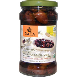 Gaea Organic Pitted Kalamata Olives In Brine 8x290g