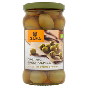 Gaea Organic Green Olives In Brine 8x300g