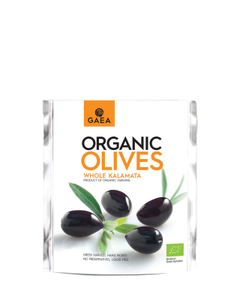 Gaea Organic Whole Kalamata Olives 8x150g