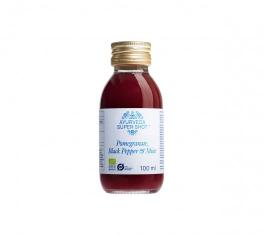 Ayurveda Organic Super Shot Pomegranate Black Pepper & Mint 100ml
