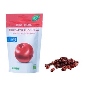 Biokia Organic Dried Lingonberry 50g