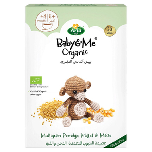 Arla Baby & Me Organic Multigrain Porridge, Millet & Maize 210g