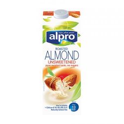 Alpro Vegan Roasted Almond Unsweetened Milk 1l