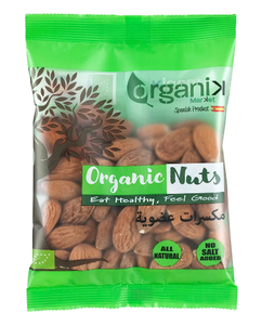 Organik Raw Organic Almonds With Skin 12x100g
