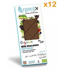 Organik Chocolate With Vanilla For Kids 12x50g