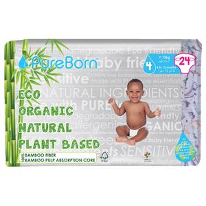 Pure Born Size 4 Single Pack Nappy 24pcs