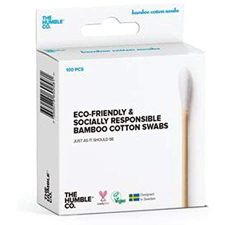The Humble & Co Eco Friendly Bamboo Cotton Swabs 100s