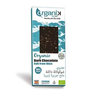 Organik Dark Chocolate With Salt From Ibiza 50g