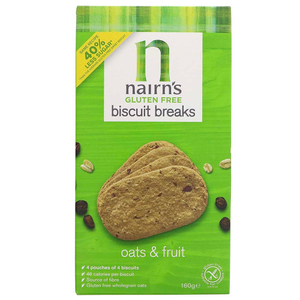 Nairns Gluten Free Oat And Fruit Biscuit Breaks 160g