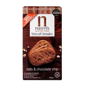 Nairns Gluten Free Chocolate Chip Biscuit Breaks 160g